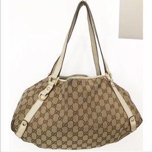 💯Authentic Gucci Abbey GG Canvas Shoulder Bag
